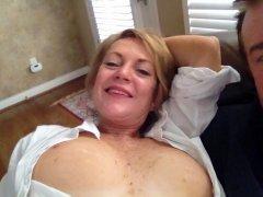 Cum on my titties